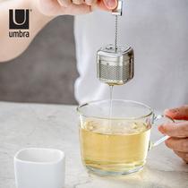 Канадский umbra чай утечки фильтр чайный пакетик чай фильтр чай фильтр ленивый чай утечка портативных чай решений устройства