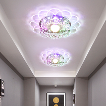 Corridor lamp corridor lamp corridor lamp modern simple personality creative crystal ceiling porch cattle eye ceiling lamp LED spotlight