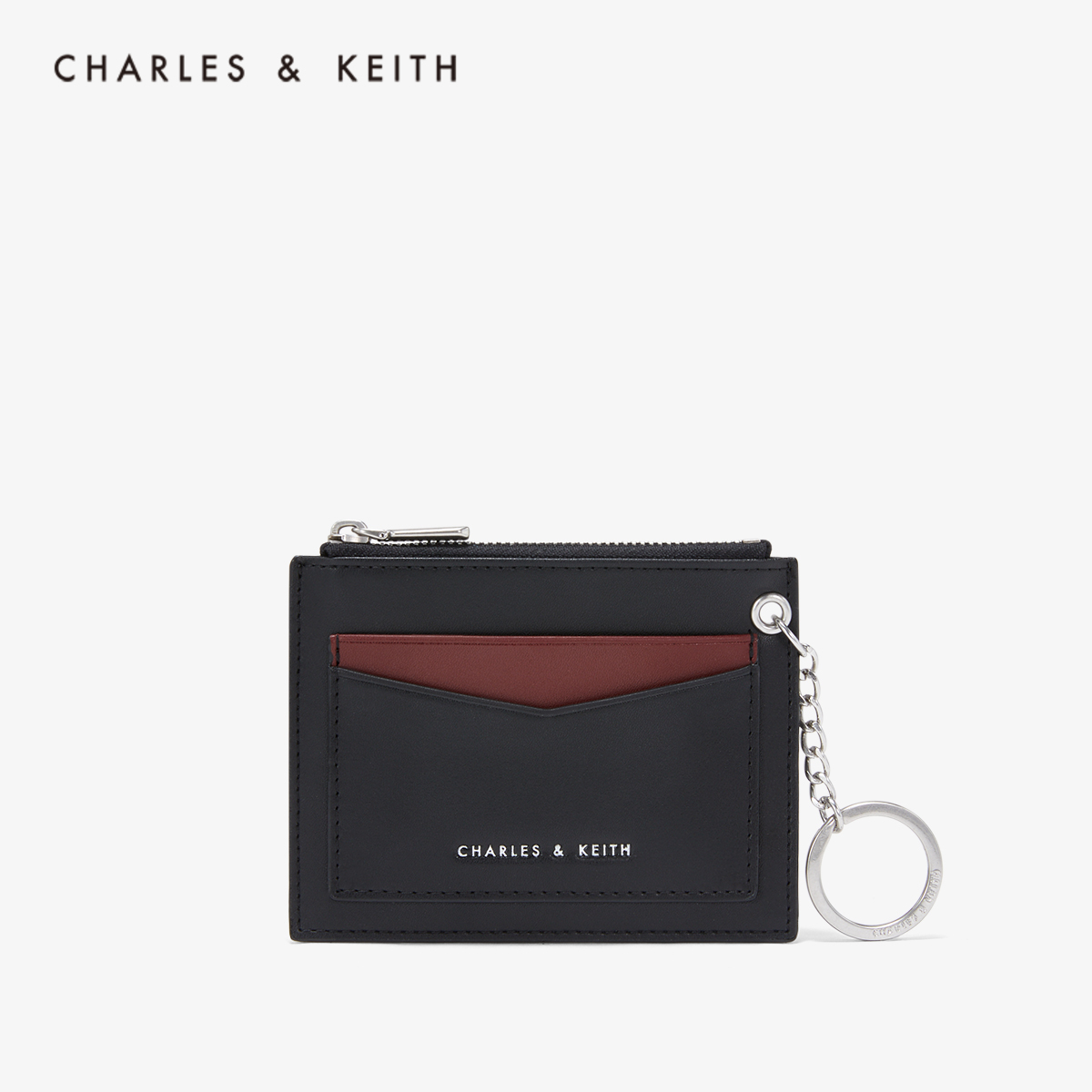 CHARLES & KEITH Zero Wallet CK6-50680793-1 Decorative Lady's Mini Wallet Card