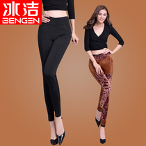 Ice-jie ladies winter thickening high waist trousers