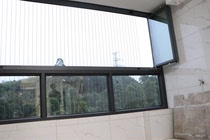 Closed balcony glazing frameless glazing folding French window aluminum sliding door with frame full window invisible window