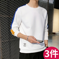 Mens 2019 new autumn long-sleeved T-shirt mens sweater ins Tide brand trend loose autumn casual clothes