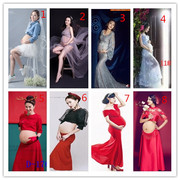 Pregnant women photographed wedding theme photography photo studio costume dress clothing pregnant Mommy art photo