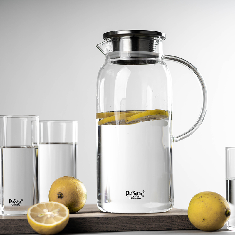 German plazotta glass cold kettle heat-resistant home water bottle glass handle large-capacity juice cold kettle