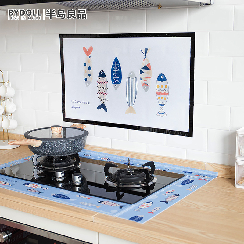 Peninsula good self-adhesive kitchen oil-proof sticker high temperature resistant large scale waterproof stove lampblack machine tile Glass Sticker