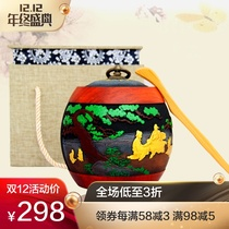 Creative Retro Send friends customer leaders business Gifts Home Office Supplies Chinese tea set charcoal carving tea cans