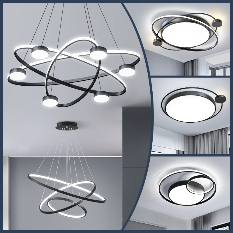 Living room chandelier modern light luxury simple atmosphere high-end home dining room lamp Nordic wind lamp combination whole house package