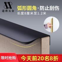 Stealth handle long black modern minimalist punch-free dark drawer door overall cabinet wardrobe light luxury Nordic doorknobs