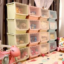 Boîte de rangement de jouets avant louverture épaissie de grande taille en plastique de vêtements de bébé de finition de la boîte de support de stockage