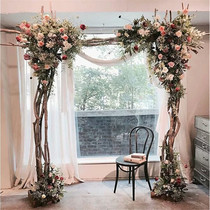New Mori idyllic wedding solid wood arch wooden pile solid wood props assembled arch rack flower Door