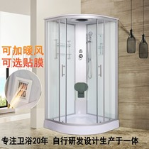 Overall shower room bathroom with bathtub arc fan simple home integrated closed toilet bath with warm air