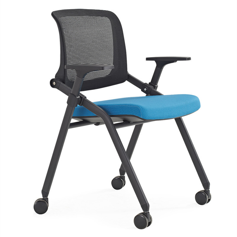 Training chair with table board with writing board chair Foldable conference chair Staff student Conference room Simple office chair