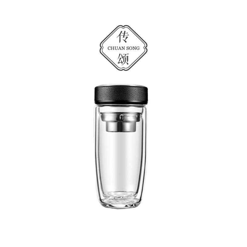 Glorify the high boron silicon goose egg cup mens office tea transparent water cup double-glazed car custom logo