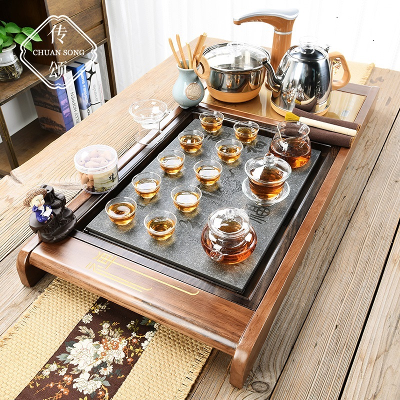 Kung Fu tea set new Chinese tea ceremony teapot fully automatic all-in-one home simple living room tea plate set