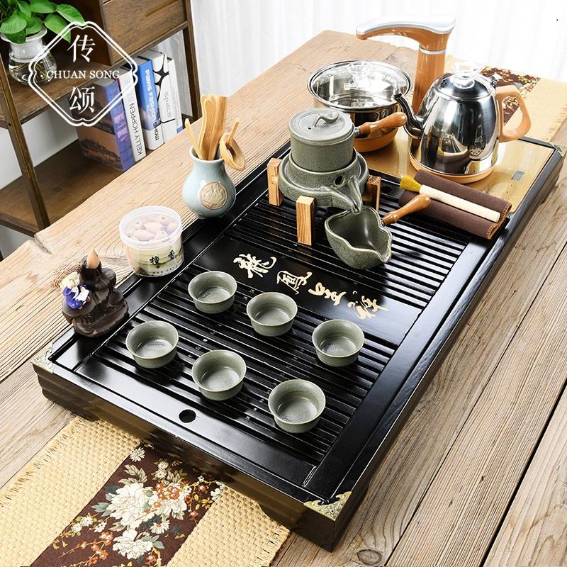 Tea kung fu tea set teapot home fully automatic one office new Chinese tea ceremony living room tea plate