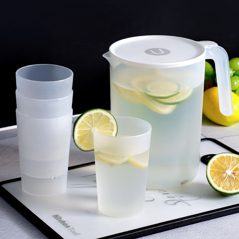 Celebrate the new simple cold kettle home heat-resistant high temperature cold water cup plastic large-capacity cold kettle kettle set