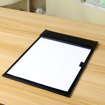 Leather A4 paper File Splint business office meetings Pad writing Pad Magnet hotel with note clip