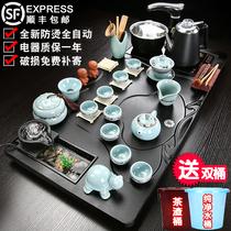 Tea set home one kung fu tea plate simple whole living room fully automatic ceramic teacourse tea ceremony purple sand