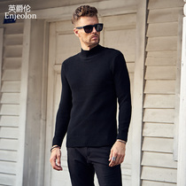 British Viscount mens warm winter cotton knit sweater collar young handsome Turtleneck Sweater