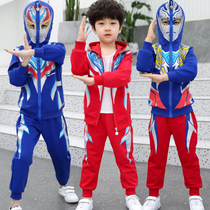 Ultraman clothes boys spring suit autumn Superman foreign style boy child Spider-Man childrens clothing 2020 new