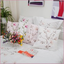 Foreign trade brand cotton bed products fresh embroidery cushion pillow 45*45cm--65*65cm such as multiple size
