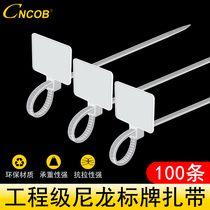 Cncob Cable storage with wire label signage strap Network strap Mark Sign Strap 100 Packs