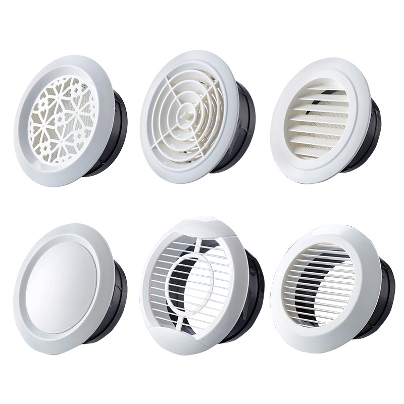 Air vent vent exhaust ventilation indoor ventilation net cover air personality pipe cover round bathroom facade