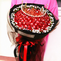 99 lollipop bouquet finished rose-scented 皁 a birthday present for his girlfriend