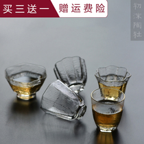 Mo pottery club handmade hammer Wen transparent glass kung fu tea cup tea smell small cup