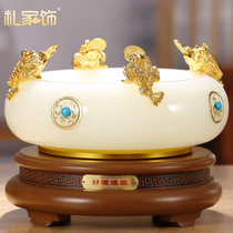 Wealth billow lucky pot ornaments feng shui Compass glass craft gifts home living room wine cabinet decorations