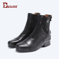 Italian leather horse riding boots riding boots equestrian boots riding equipment anti-skid breathable boots eight feet long harness