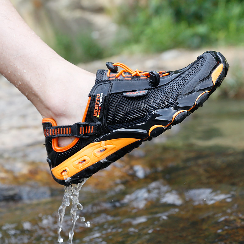 Humvee outdoor traceable shoes mens summer fishing fast dry shoes breathable hiking shoes anti-slip wear-resistant couple wading shoes women