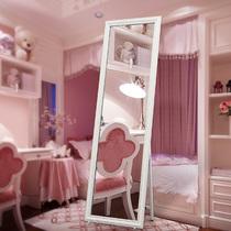 En bois massif plein-longueur miroir européen miroir de sol simple Chambre Maison dressing miroir Vêtements Magasin étudiant dortoir dressing miroir