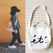 The new baby boomers ins explosion of Japanese female minimalist art fan girls Sen letters canvas bag bag bag