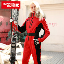RUNNINGRIVER run outdoor double-board single-board snow-proof breathable womens jumpsuit N9470