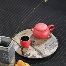 Shijin Road natural whole piece of Chinese painting stone tea plate home simple small dry foam table creative ink wind small tea tray