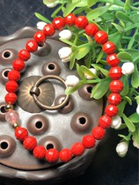Wanshan high content raw ore cinnabar bracelet this year Ms. Cinnabar hand string Buddha beads Evil Spirits
