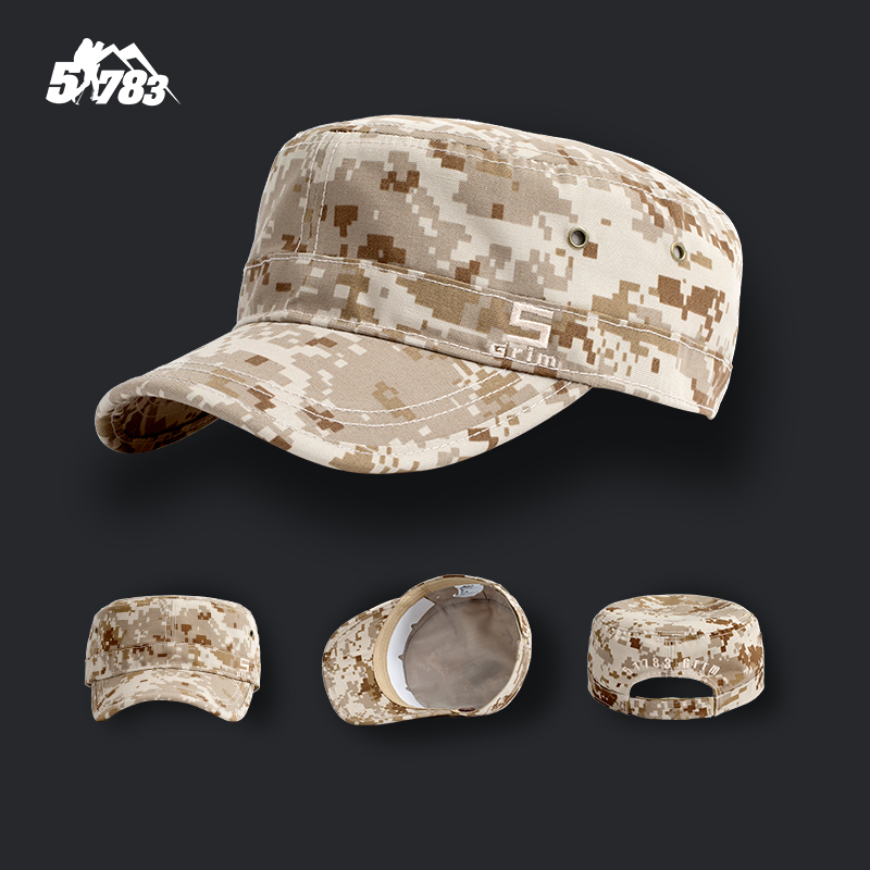 51783 Military fans outdoor camouflage flat top hat male special forces Benny hat small soldier hat combat cap for training cap girl