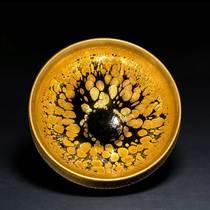 Song Fengs famous Cai Zhiqiang Jianyang Jiandang teacup pure handmade ceramic iron tire kungfu master cup large tea lamp