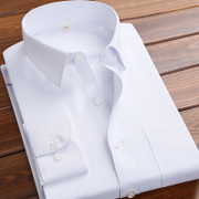 Easy white shirt sleeved man warm winter Fumiaki pure Korean cultivating leisure with cashmere thickened business shirt