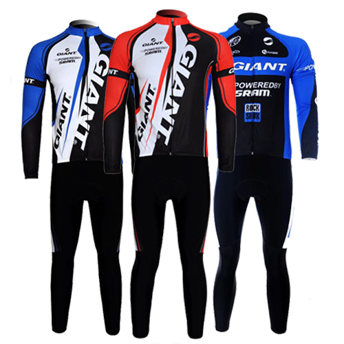 Spring, Autumn and Summer Giant Cycling Apparel, Roller Skating Apparel, Long Sleeve Suit, Men's and Women's Highway Mountain Bicycle Team Edition