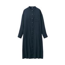 Produits non imprimés MUJI femme coton indien double couche robe col tissé