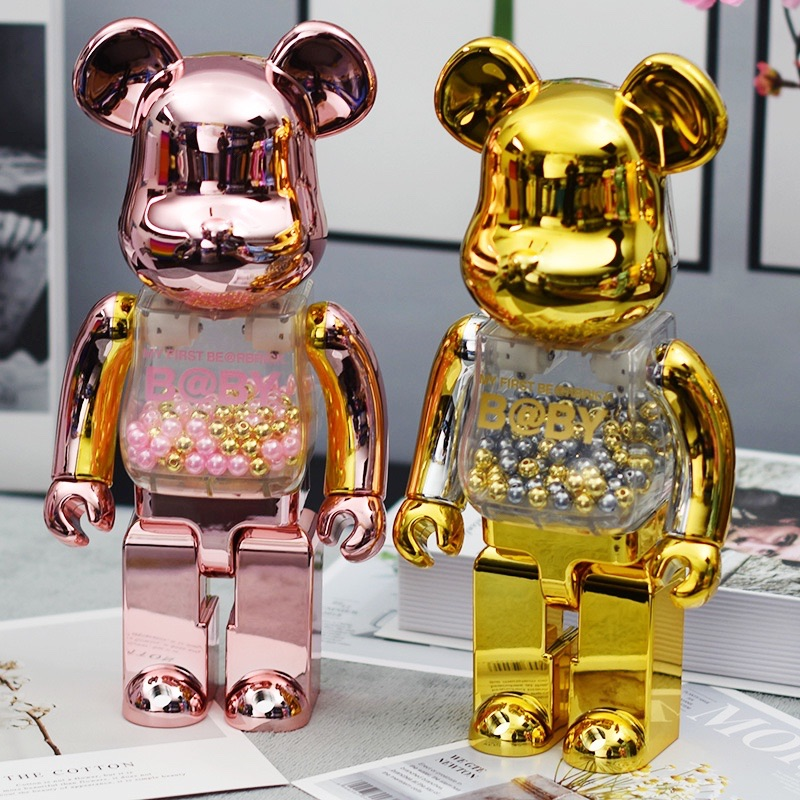bearbrick400%Строительные блоки Bear violent bear tide play hand model украшения Qianqiu Van Gogh blind box подарок