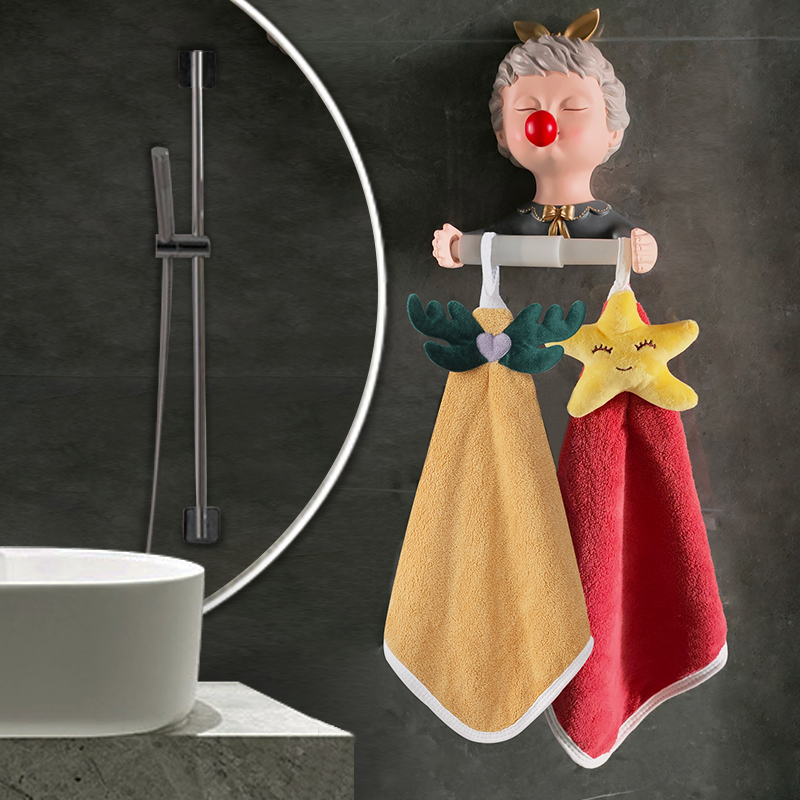 Wipe hand towel hanging cute super absorbent towel home kitchen wipe hand cloth cartoon hand-made hand-care childrens hand towel