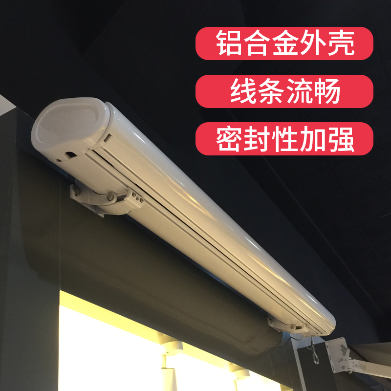 Electric awning telescopic folding rain shed outdoor courtyard balcony rainproof villa remote control automatic full box awning