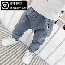 Baby big pp pants spring wear casual pants 0-1 years old 2 spring sports pants 6-12 months baby spring