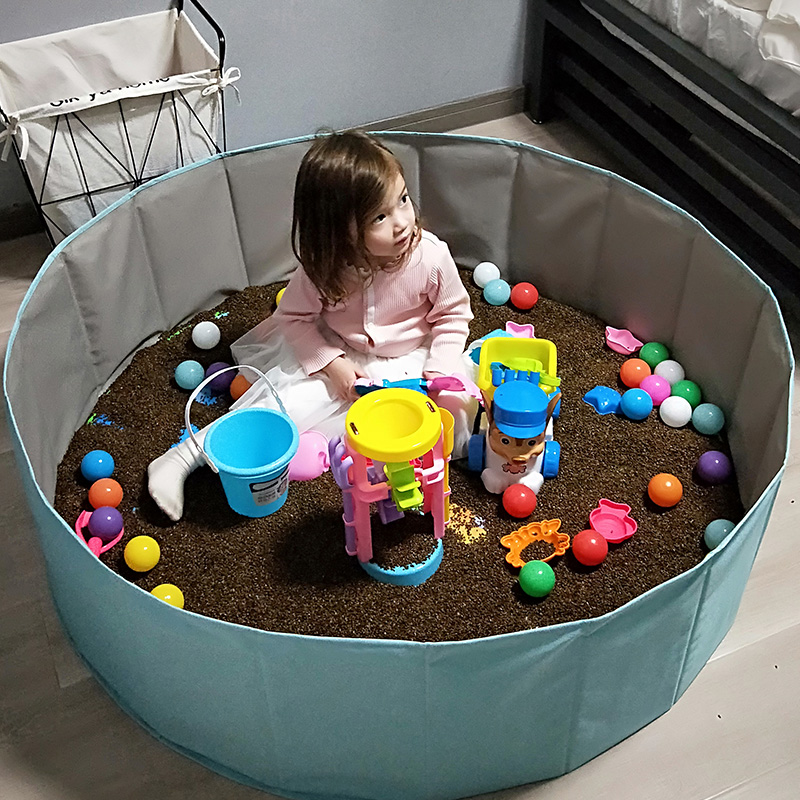 Children Cassia Seed Toy Sand Pool Set Sand Toy Pool Set Baby Playing Sand Hourglass Household Indoor Fence