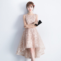 Short and long bridesmaid dresses before party parties