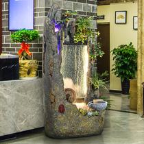 Ложные горы проточной воды занавес стены фонтан открытие подарок Пол ван Цай украшения офис лаки фэн-шуй колесо гостиной украшения