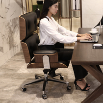 Simple Hyundai Ames Home Office computer Chair leather boss Large class chair can lie in Study manager chair